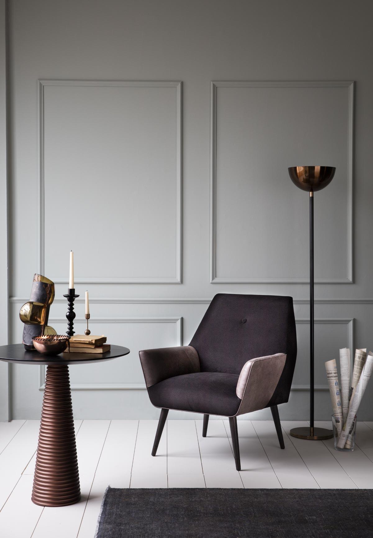 bouwebcollectionkadraj_circle coffee table-basic lamp- nero armchair